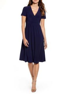 Anne Klein Matte Jersey Fit & Flare Dress