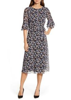 Anne Klein Mayfair Bell Sleeve Midi Dress