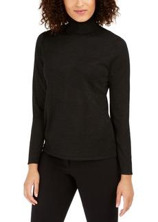 Anne Klein Metallic-Flecked Turtleneck Sweater