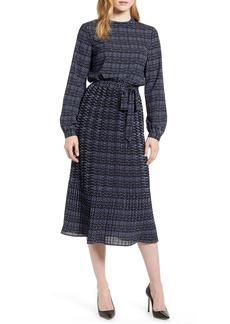 Anne Klein Metro Print Long Sleeve Dress
