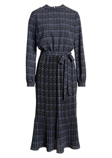 Anne Klein Metro Print Long Sleeve Dress
