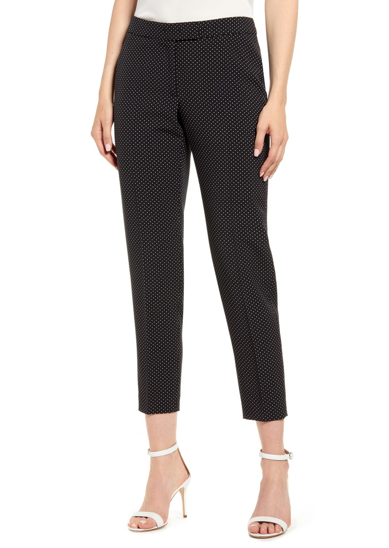 Anne Klein Microdot Crepe Ankle Pants