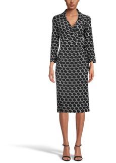 Anne Klein Midi Wrap-Style Dress