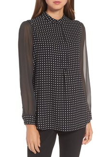 Anne Klein Mixed Dot Print Blouse