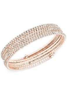 Anne Klein Multi-Row Rhinestone Flex Bracelet