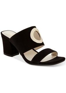Anne Klein Naomi Block-Heel Sandals