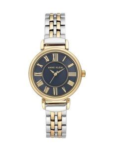Anne Klein Navy Dial Two-Tone Bracelet Watch