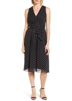 Anne Klein New York Dotted Chiffon Dress
