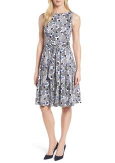 Anne Klein New York Malibu Bluffs Stretch Cotton Fit & Flare Dress