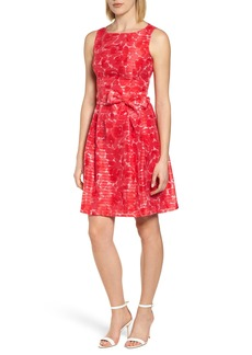 Anne Klein New York Rosewater Shadow Fit & Flare Dress
