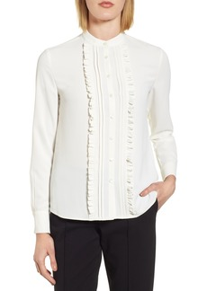 Anne Klein New York Ruffle Front Blouse