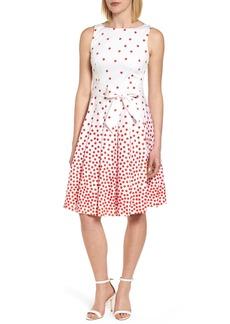 Anne Klein New York Scattered Dot Stretch Cotton Dress