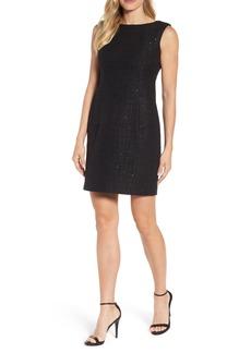 Anne Klein New York Sequin Tweed Sheath Dress