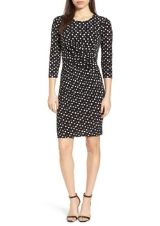 Anne Klein New York Splashy Dot Twist Waist Dress