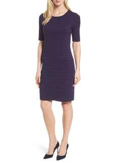Anne Klein New York Textured Stripe Knit Dress