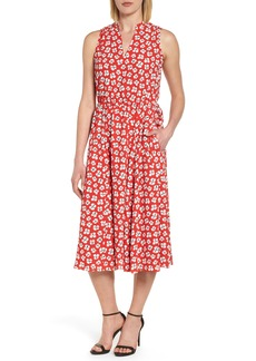 Anne Klein New York Zuma Petal Drawstring Midi Dress
