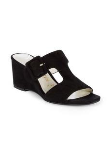 Anne Klein Nilli Suede Wedge Sandals