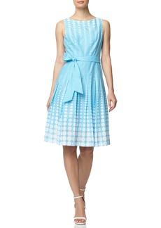 Anne Klein Octagon Fade Print Cotton Fit & Flare Dress