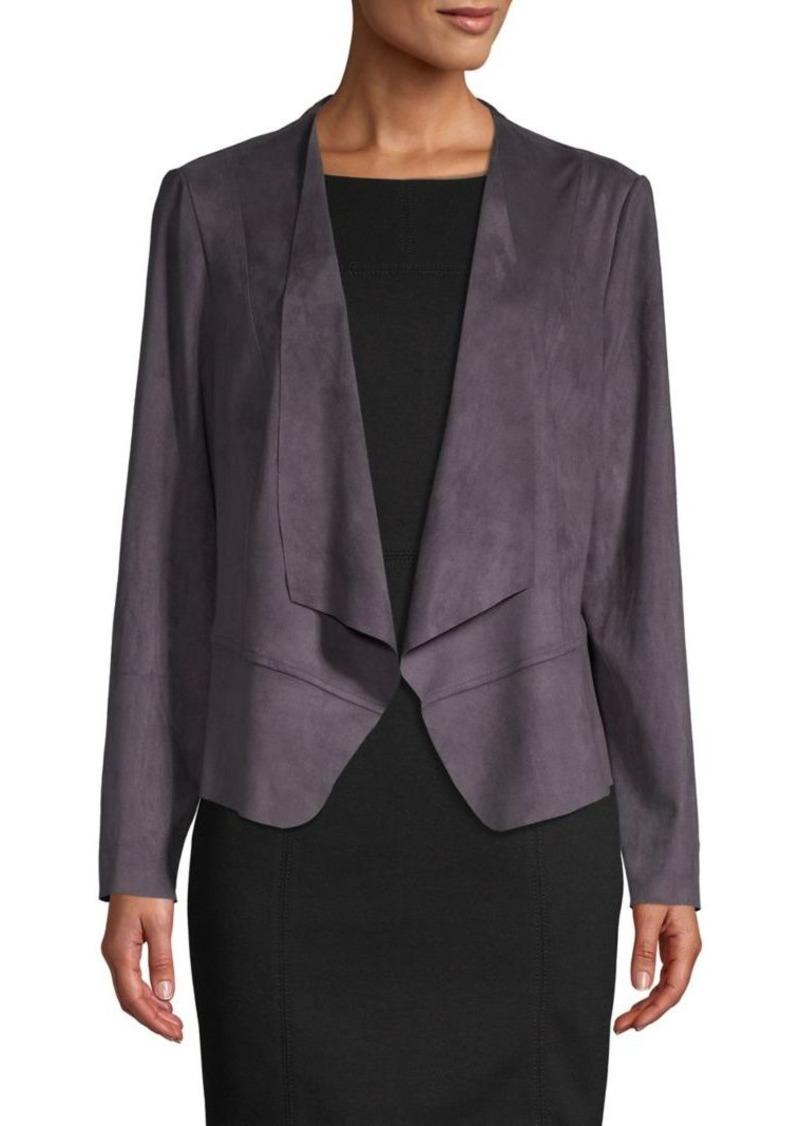 Anne Klein Open-Front Drape Jacket