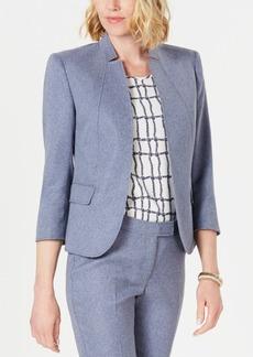 Anne Klein Denim Open-Front Jacket