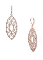 Anne Klein Openwork Pave Drop Earrings
