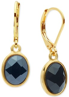 Anne Klein Oval Crystal Drop Earrings