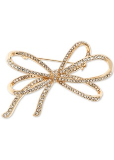 Anne Klein Pave Bow Pin, Created for Macy's