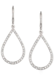 Anne Klein Pave Crystal Teardrop Earrings