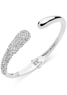Anne Klein Pave Hinged Cuff Bracelet, Created for Macy's