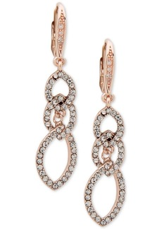 Anne Klein Pave Interlocked Link Drop Earrings