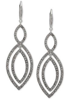 Anne Klein Pave Interlocked Orbital Chandelier Earrings