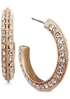 "Anne Klein Pave Open 1"" Hoop Earrings"