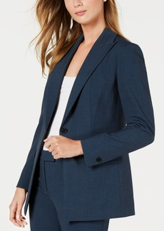 Anne Klein Peak Lapel Long Jacket, Created for Macy's