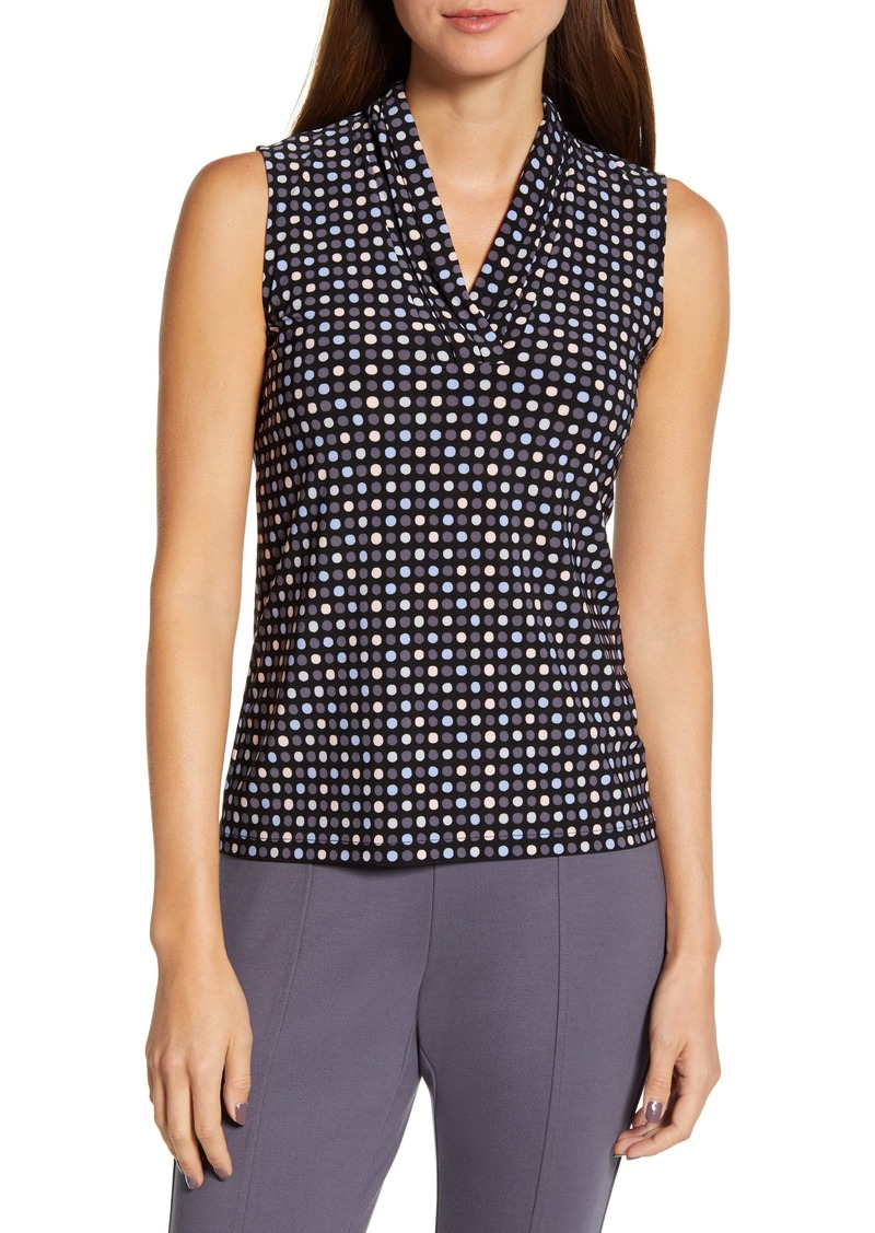 Anne Klein Pearly Dot Sleeveless Top