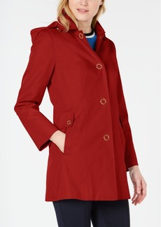 Anne Klein Petite Hooded Raincoat