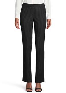 Anne Klein Pinstripe Flare Leg Trousers
