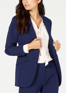 Anne Klein Pinstripe One-Button Blazer, Created for Macy's