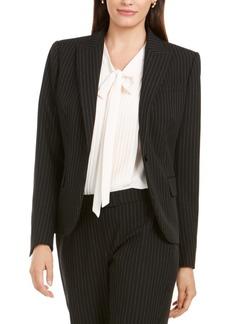 Anne Klein Pinstriped One-Button Blazer