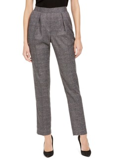 Anne Klein Plaid Pull-On Pants