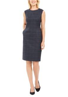 Anne Klein Plaid Sheath Dress