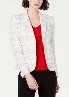 Anne Klein Plaid Single-Button Blazer