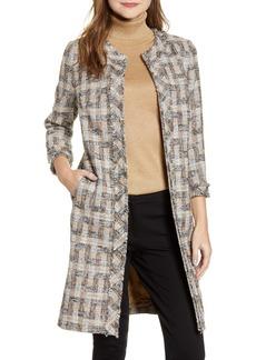 Anne Klein Plaid Topper Coat