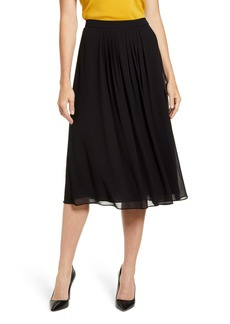 Anne Klein Pleated A-Line Skirt