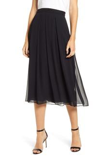 Anne Klein Pleated Chiffon Skirt