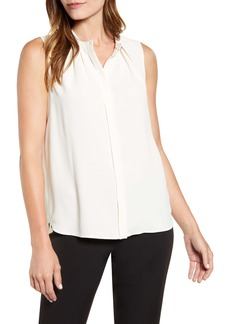 Anne Klein Pleated Sleeveless Top