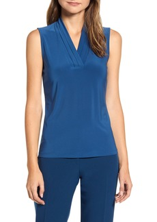 Anne Klein Pleated V-Neck Top