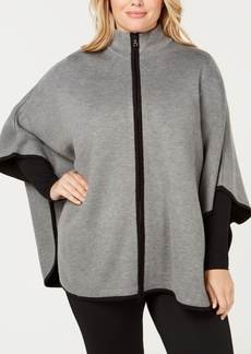 Anne Klein Plus Size Cape Jacket