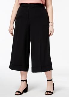 Anne Klein Plus Size Cuffed Culotte Pants