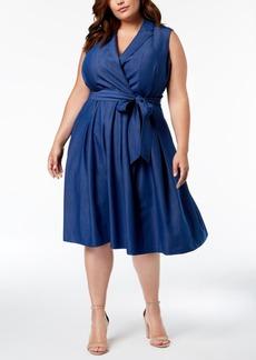 Anne Klein Plus Size Denim Wrap Dress