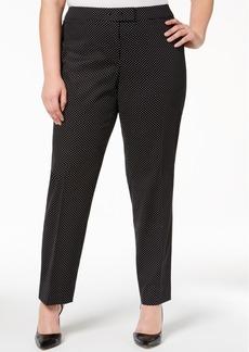 Anne Klein Plus Size Dot-Print Bowie Pants